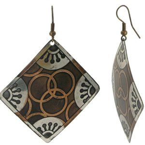 2 inch Square Designer Fashion Drop Earrings